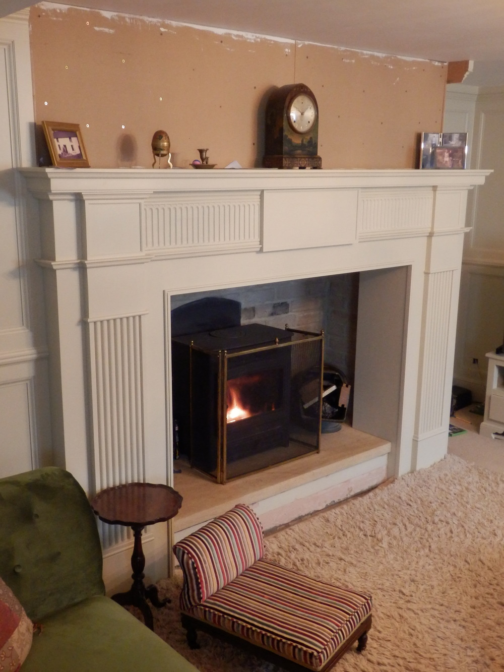 Regency style fireplace