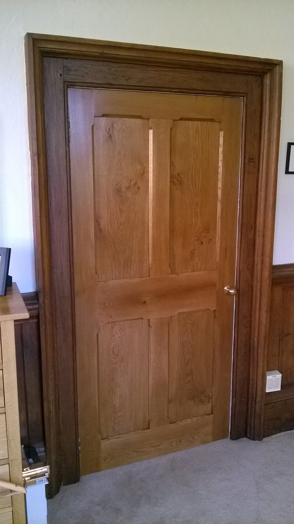 School house oak door