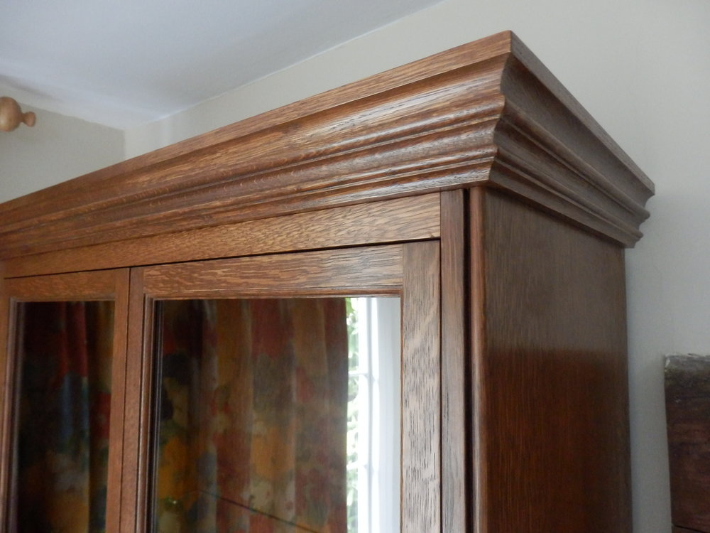 Close view of cabinet detail