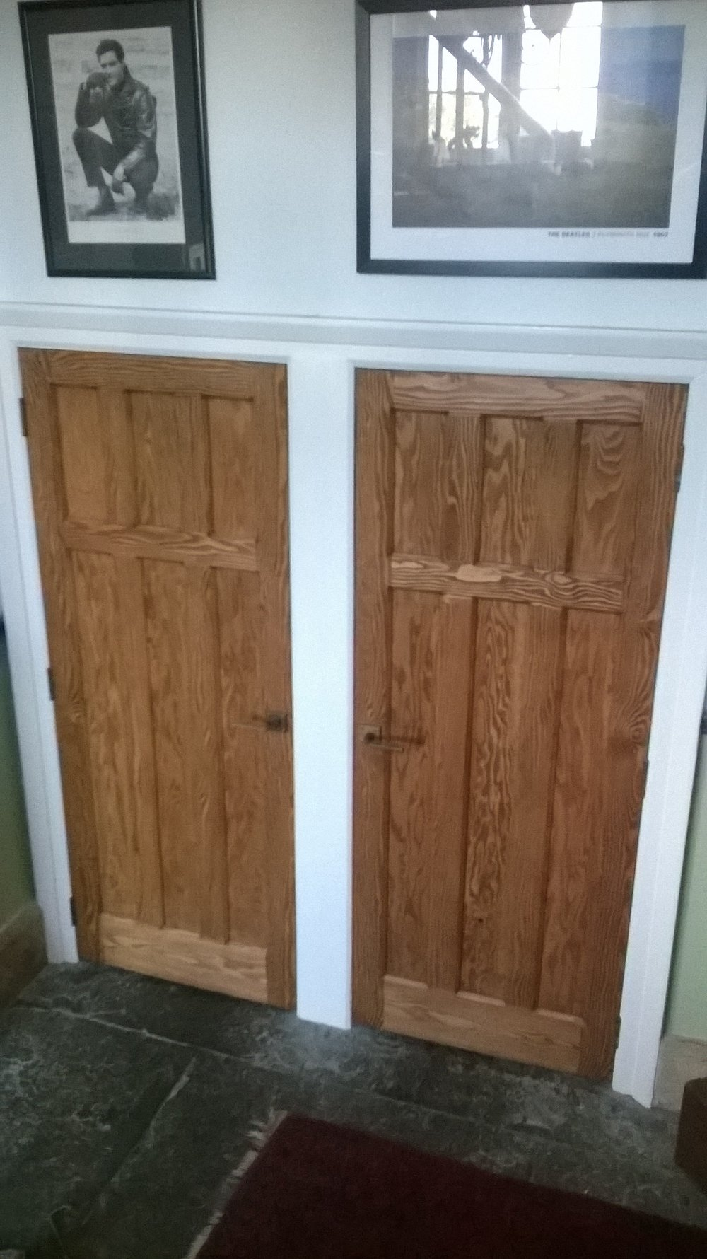 A pair of solid douglas fir doors