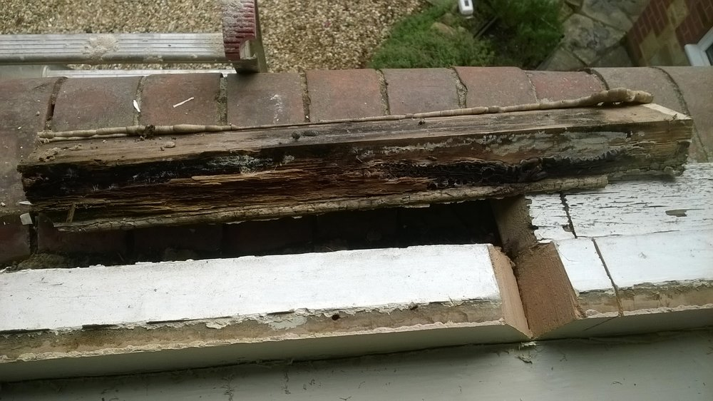 The reverse side of the repair - very rotten.