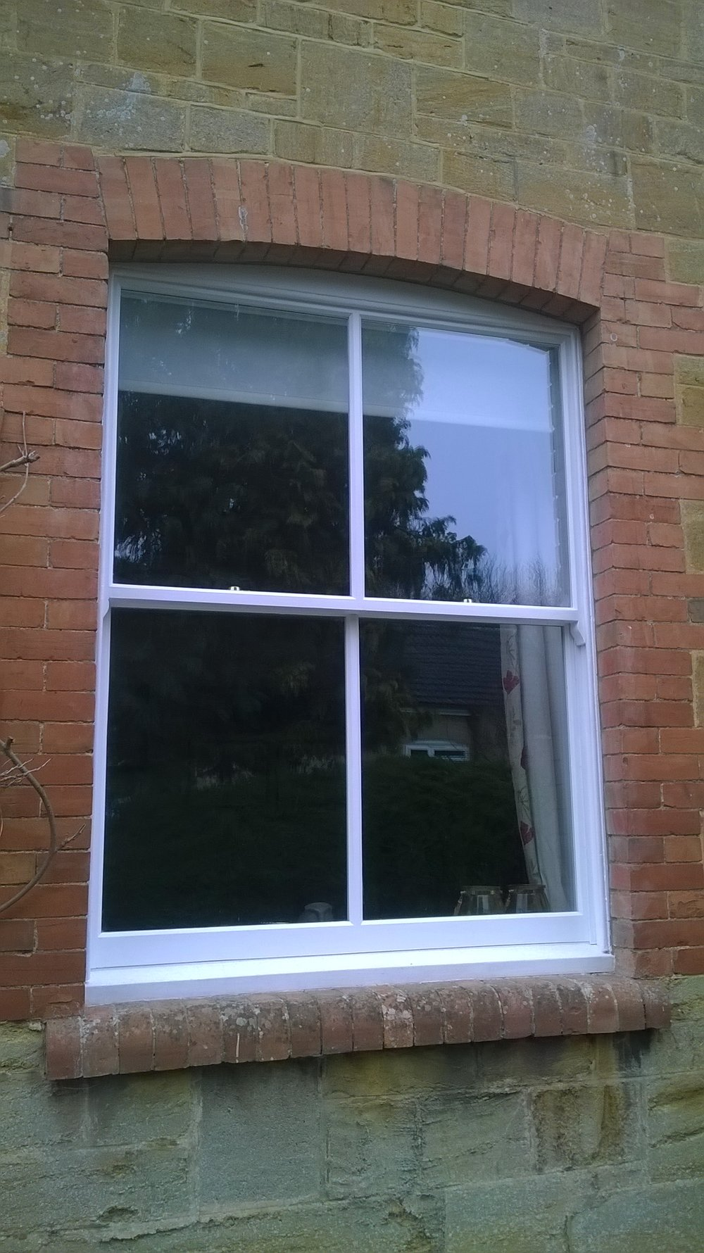 A finished window - exterior view.