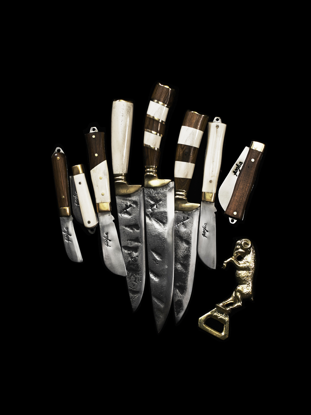 Poglia Handcrafted Knives / Wood Handles