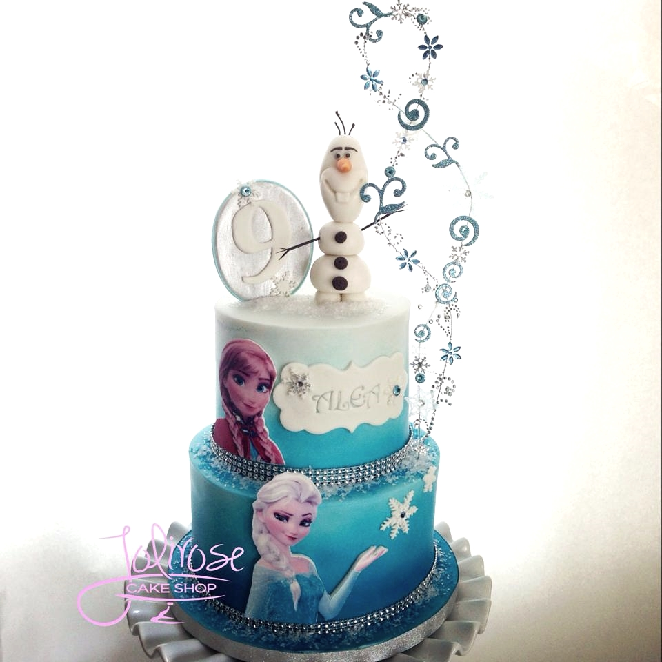 Here's one I made with Elsa and Anna.
