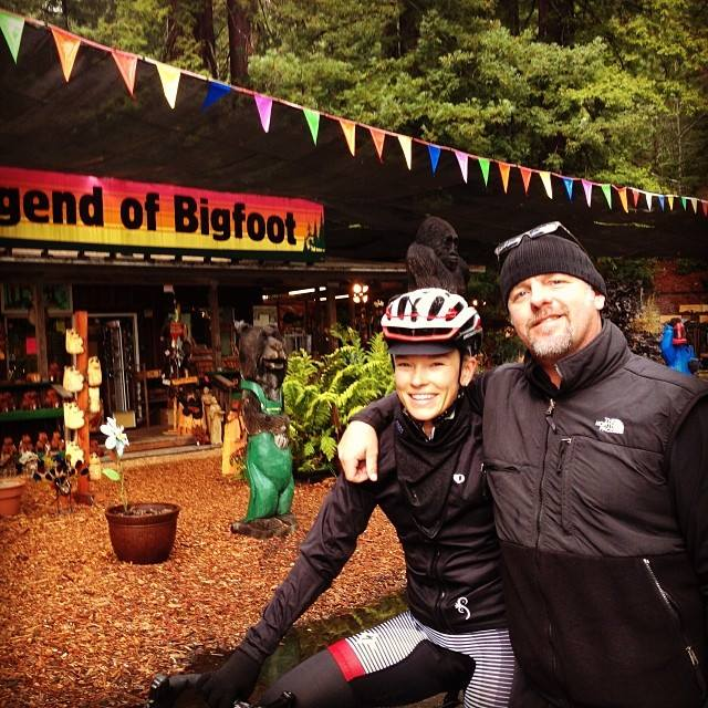 Me and my Dad at Bigfoots place!;)  Loved having my Dad along for the adventure!