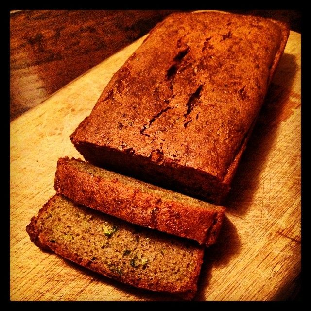 Gluten free zucchini bread makes dang good ride food!  See recipe section of my website for details! :)