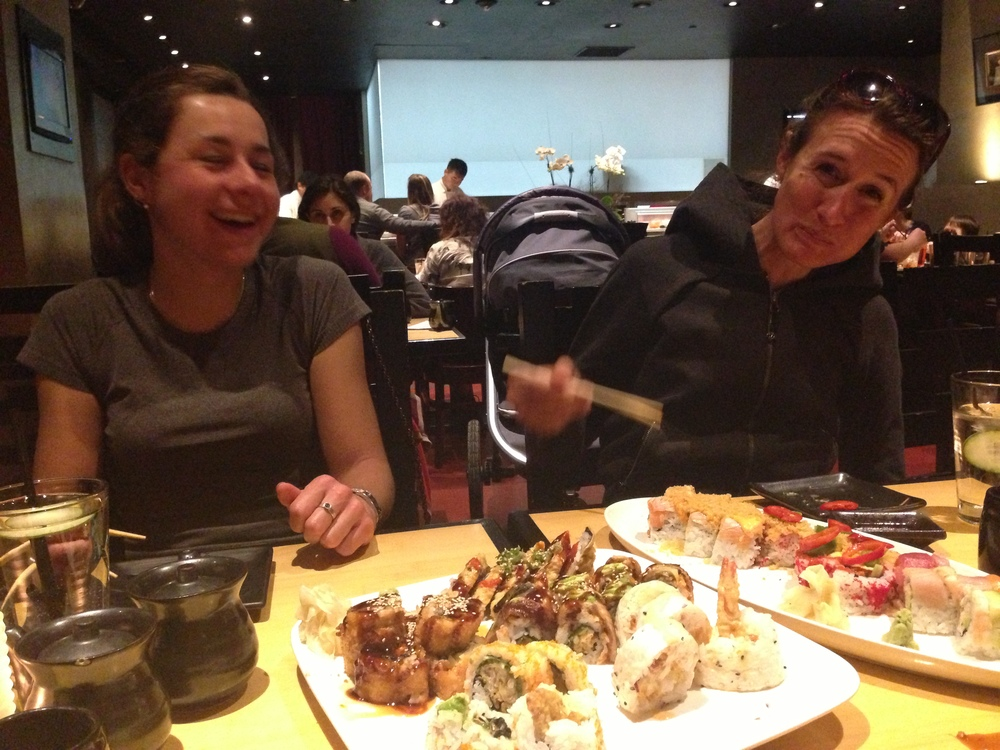 After the Specialized HQ visit we had a night out with the amazing people at lululemon!  Sushi first, YUM!!