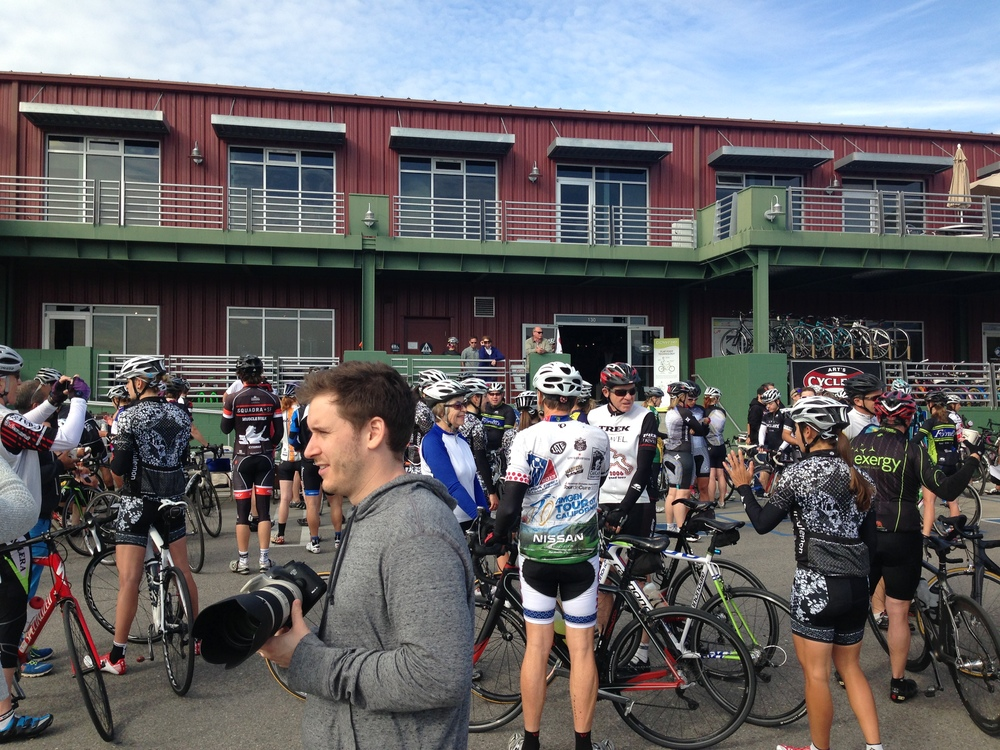 There was a great turn out at the WCA/Specialized Lululemon ride which started at Art's Cyclery in SLO.