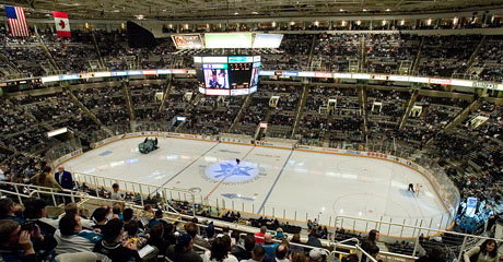 Then they took us to a San Jose Sharks Game!