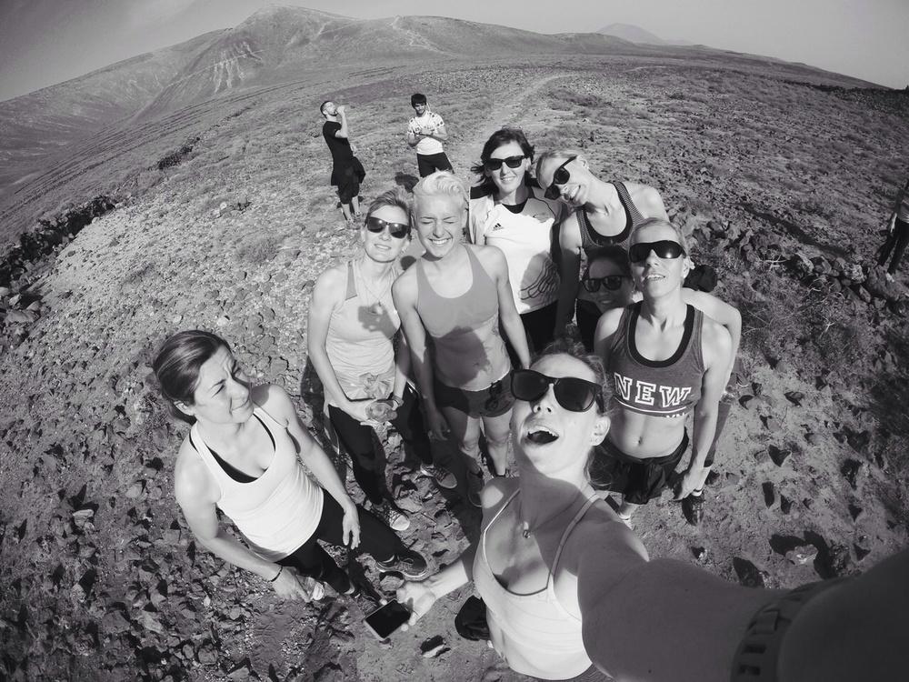 Team Selfie mid-hike!
