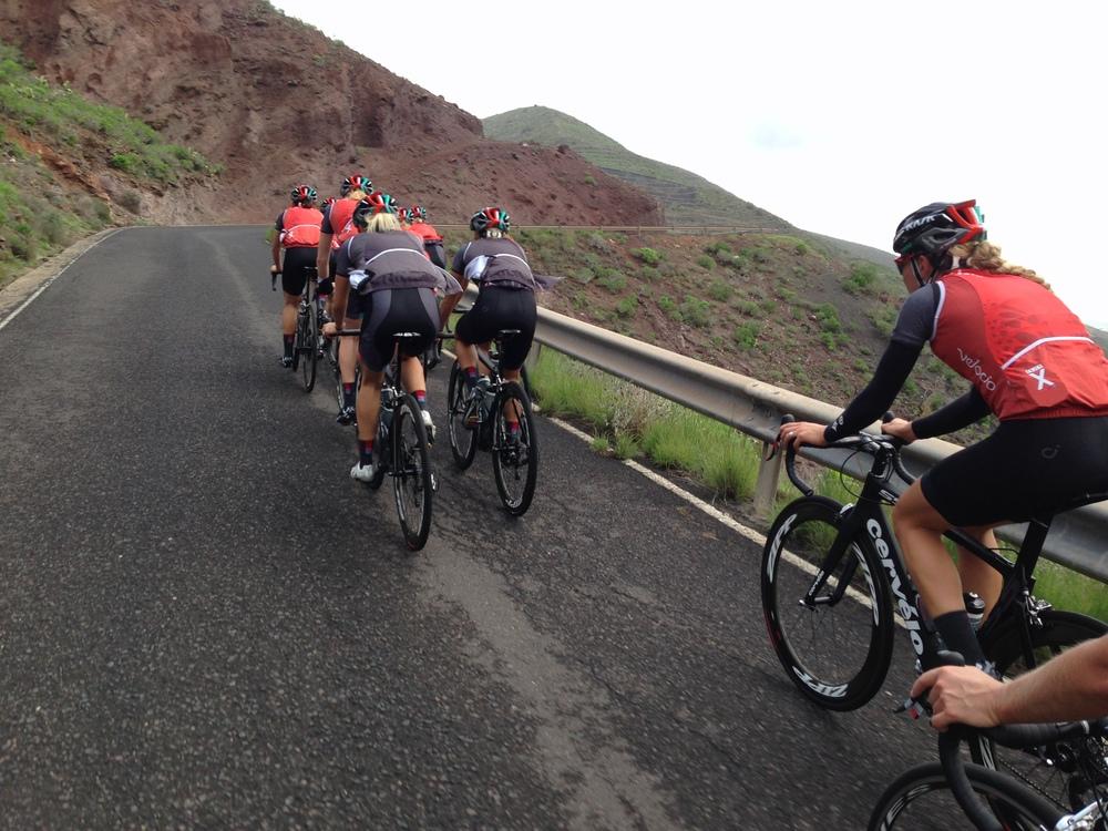 Last team ride in Lanzarote!