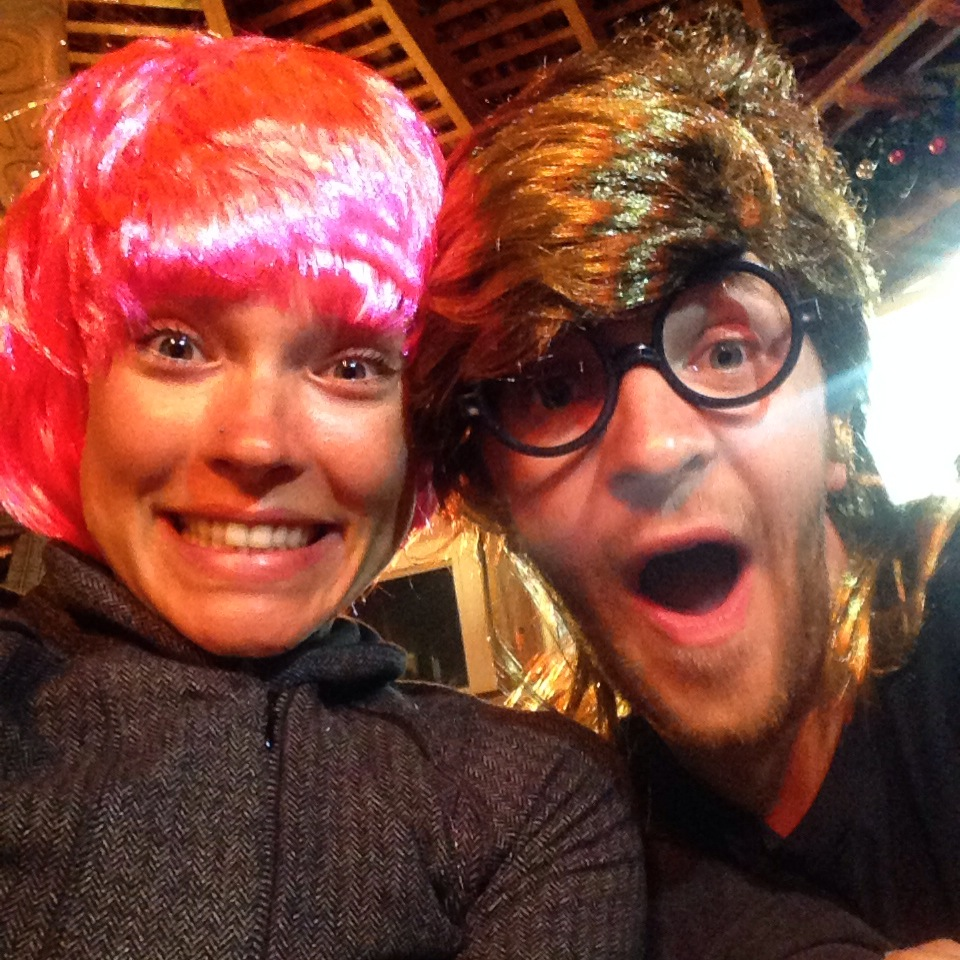 Lars and I both got wigs as our christmas present! ;)