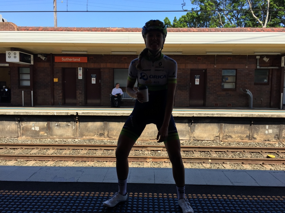 Taking the train to train in Sydney!