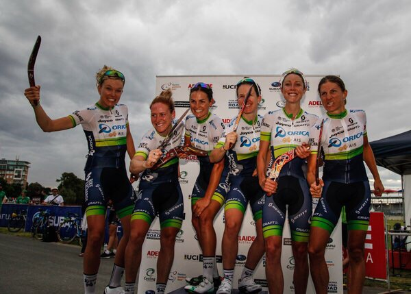 TDU team classification win! We won boomerangs, I loved it as you can see!