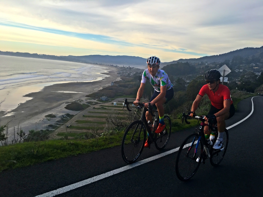 Love that view of Stinson Beach, was fun to incorporate home training roads into our coast adventure this year!  So lucky to be able to train on roads like this all the time!