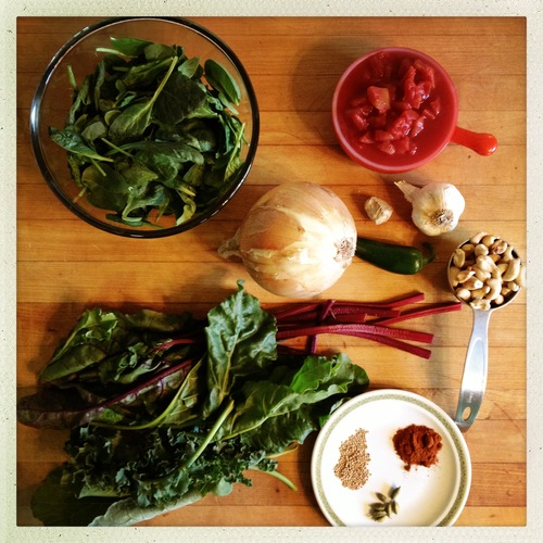 Saag Paneer Ingredients