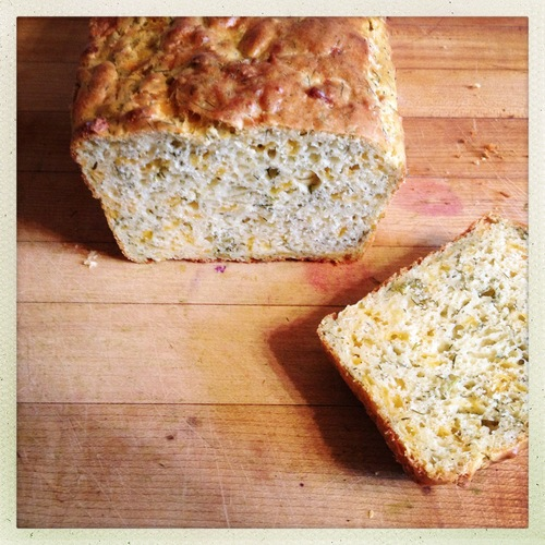 Dill and Cheddar Quick Bread