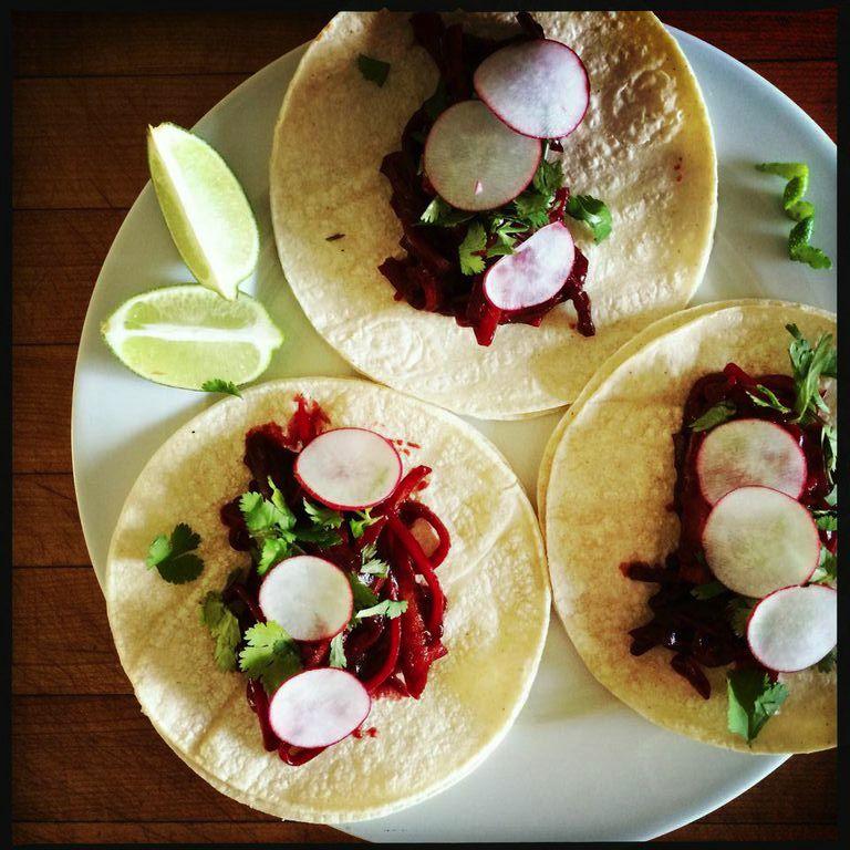 BBQ carrot tacos