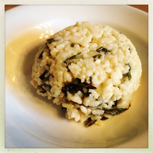 Parmesan Risotto with chard