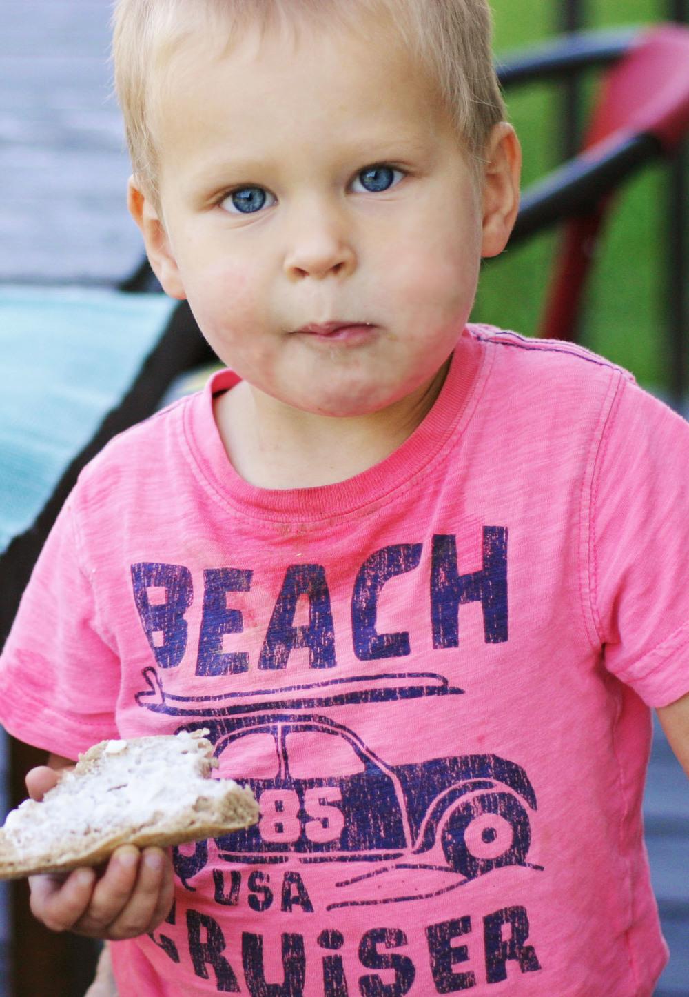 Levi always deconstructs his sandwiches.