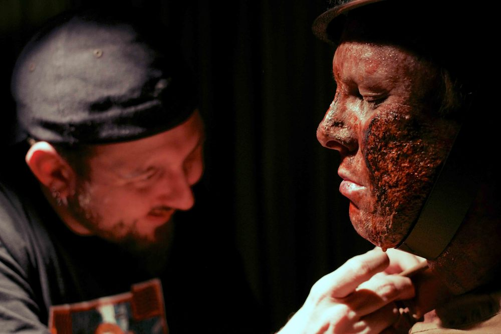 J.d. Ellis of   PostMortemFX  's mission is to bring your nightmares to life using makeup and Special effects.