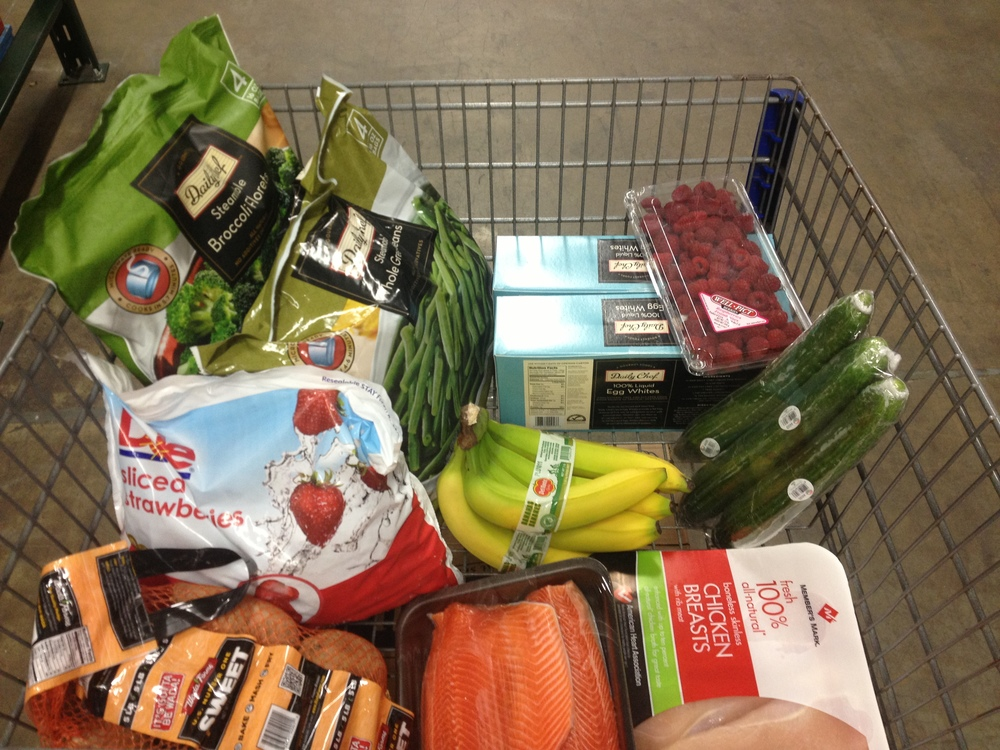 Typical grocery cart