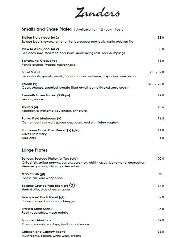 Click on image to download the current seasonal menu
