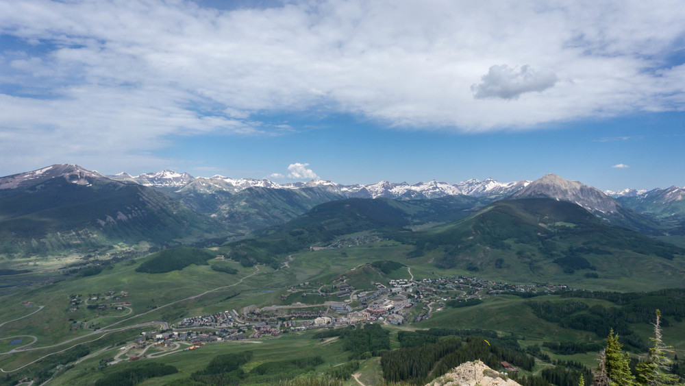 View of the town of Mount Crested Butte