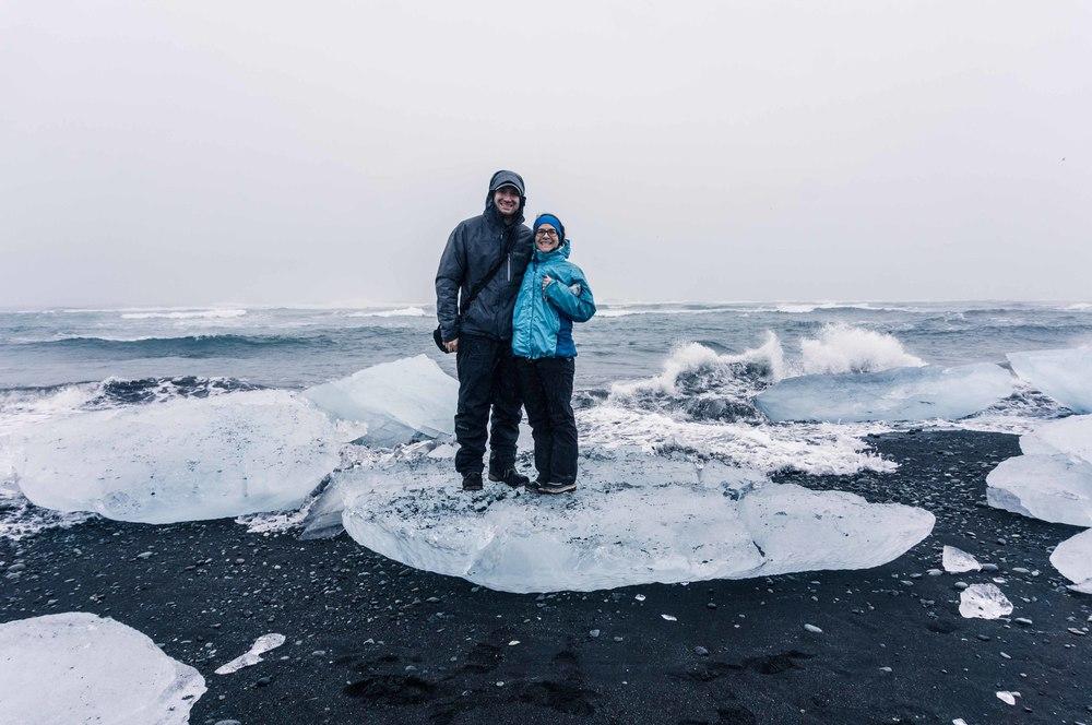 Black Sand Beach Vatnajokull Iceland
