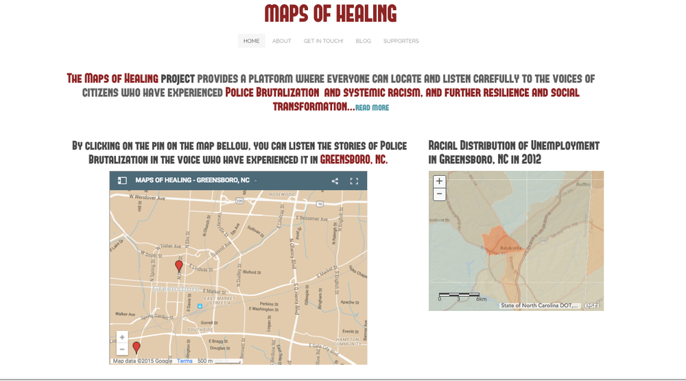 Maps of healing home page