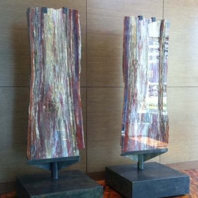 HUNT OIL PETRIFIED WOOD STANDS