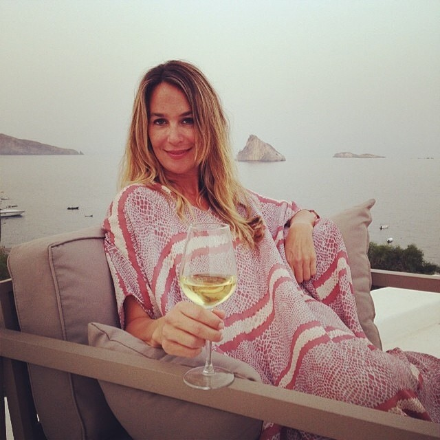 I have to double post today // my gorgeous friend   @hillarythomas   in the Aeolian Islands in her JH   #salmonsnake     #roper   caftan. It's time for apertivo somewhere...  .   #caftancool     #panarea
