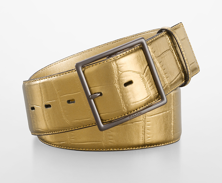 Gold Croco Belt