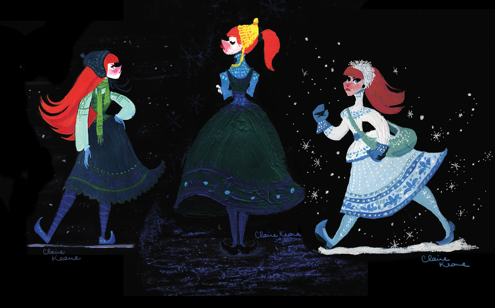 EARLY VERSION OF UPTIGHT ANNA // VISUAL DEVELOPMENT FOR FROZEN