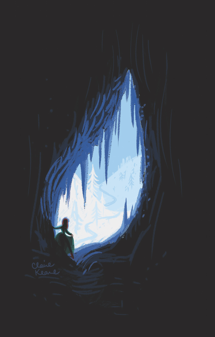 ANNA ENTERING ELSA'S ICE CASTLE - CAVE  VISUAL DEVELOPMENT FOR FROZEN