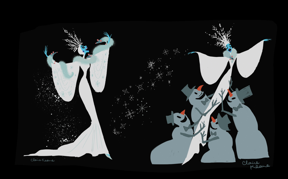 SNOW QUEEN COSTUME DESIGN // VISUAL DEVELOPMENT FOR FROZEN