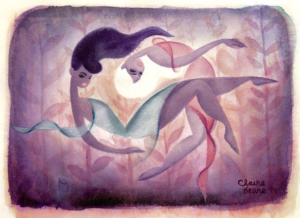 DUET  WATERCOLOR / LOVELY EXHIBITION   PRINTS AVAILABLE HERE