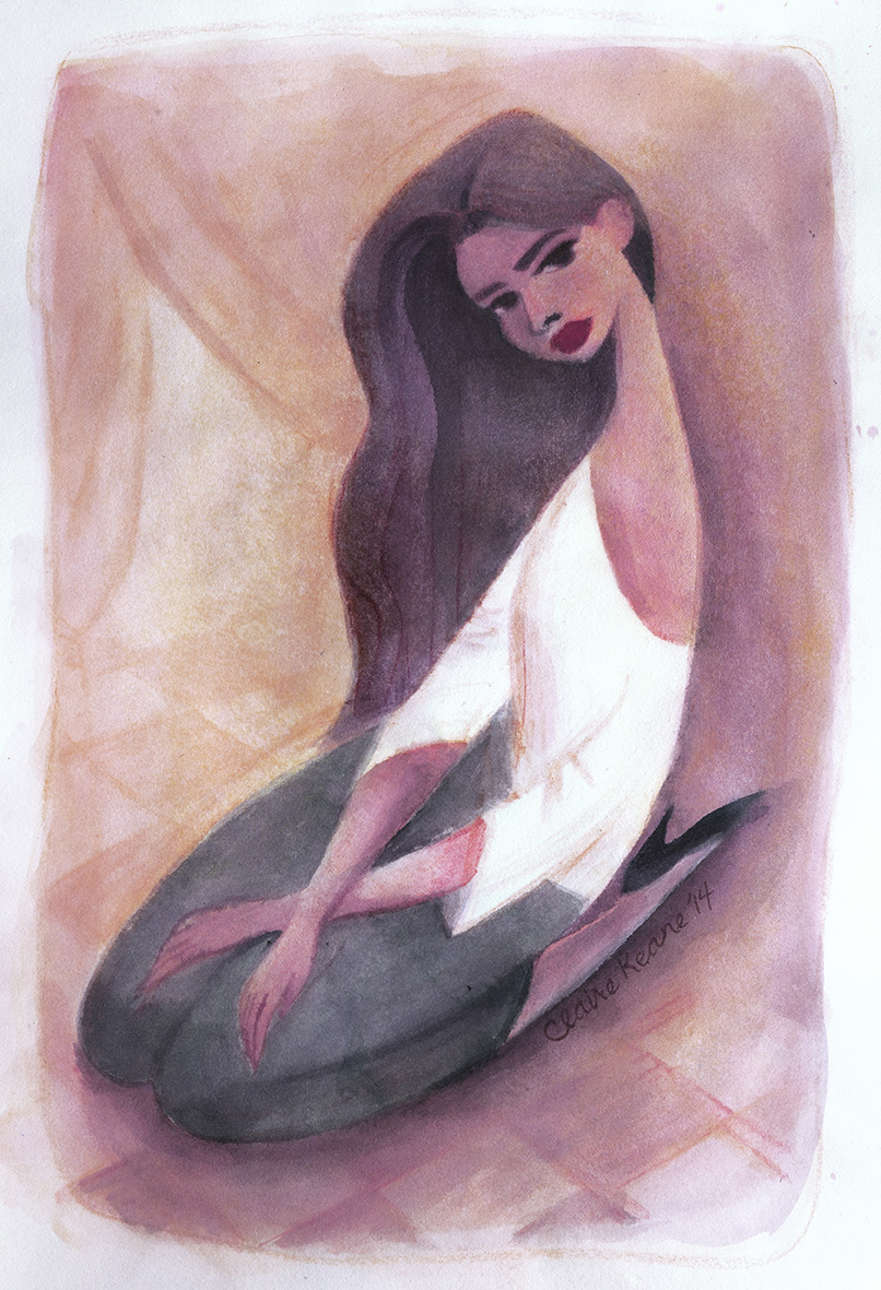 L'ESPAGNOLE  WATERCOLOR / LOVELY EXHIBITION   PRINTS AVAILABLE HERE