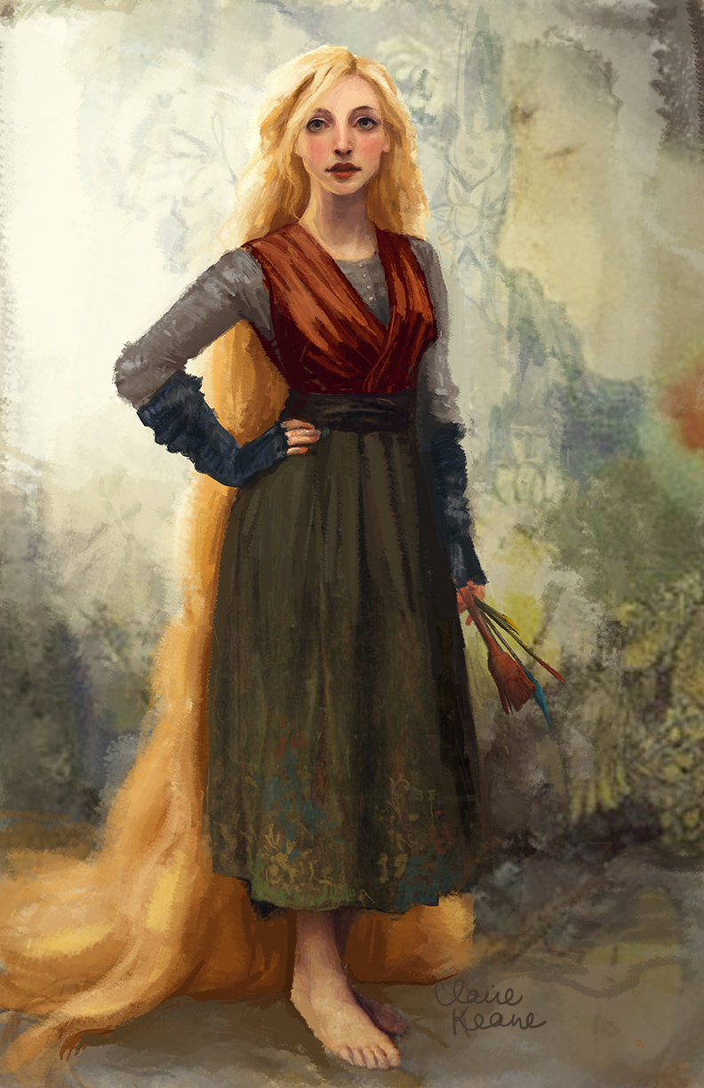 COSTUME DESIGN INSPIRED BY BOUGUEREAU  VISUAL DEVELOPMENT FOR TANGLED