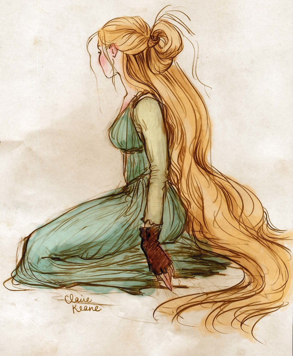 RAPUNZEL HAIR / COSTUME DESIGN  VISUAL DEVELOPMENT FOR TANGLED