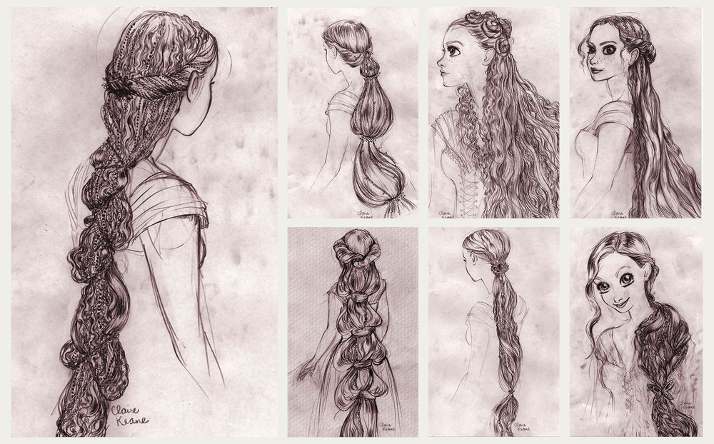 RAPUNZEL HAIR DESIGN // VISUAL DEVELOPMENT FOR TANGLED