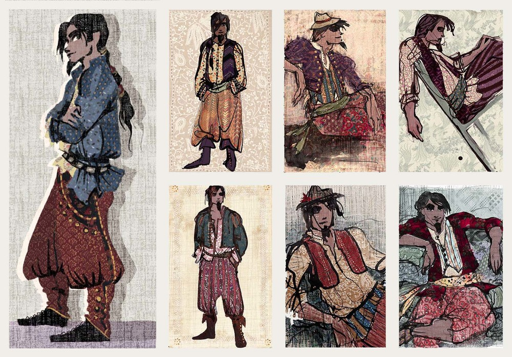EARLY FLYNN RIDER COSTUME DESIGN // VISUAL DEVELOPMENT FOR TANGLED