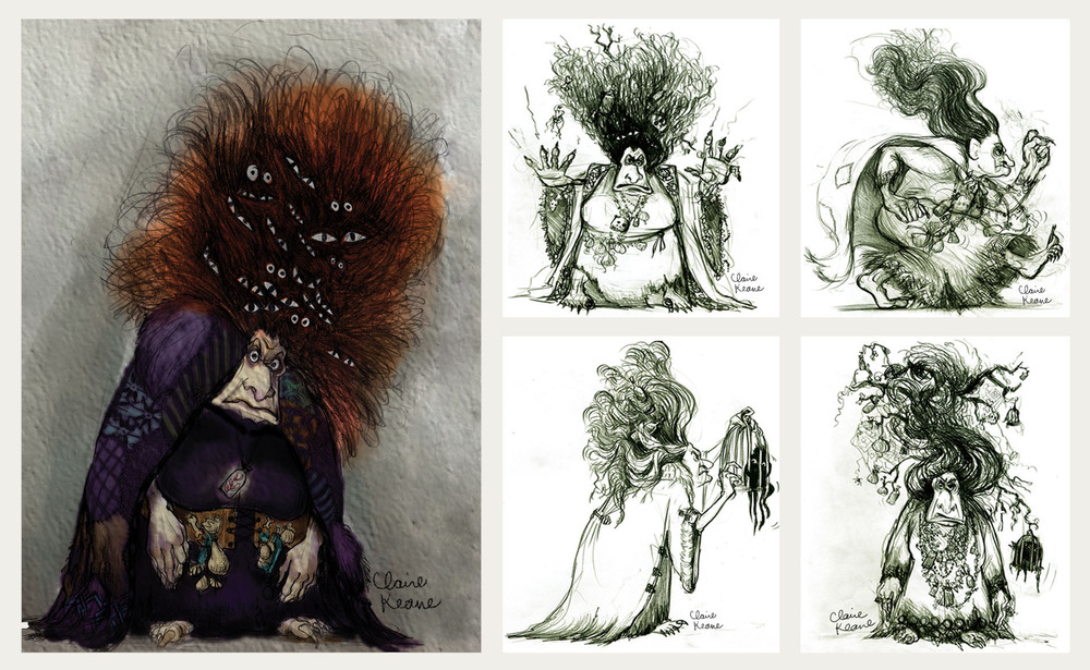 EARLY MOTHER GOTHEL COSTUME  DESIGN// VISUAL DEVELOPMENT FOR TANGLED / RAPUNZEL UNBRAIDED