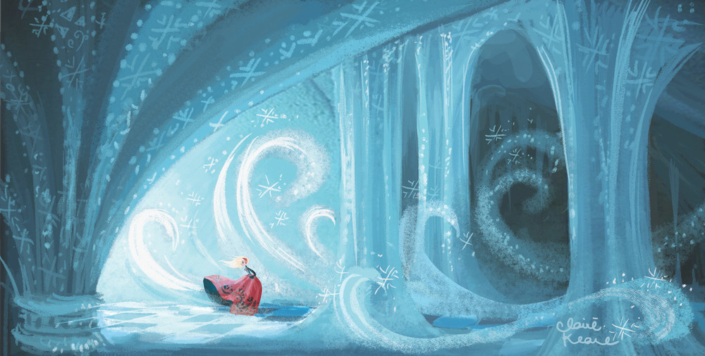 ANNA ENTERING ELSA'S ICE CASTLE - CAVE // VISUAL DEVELOPMENT FOR FROZEN