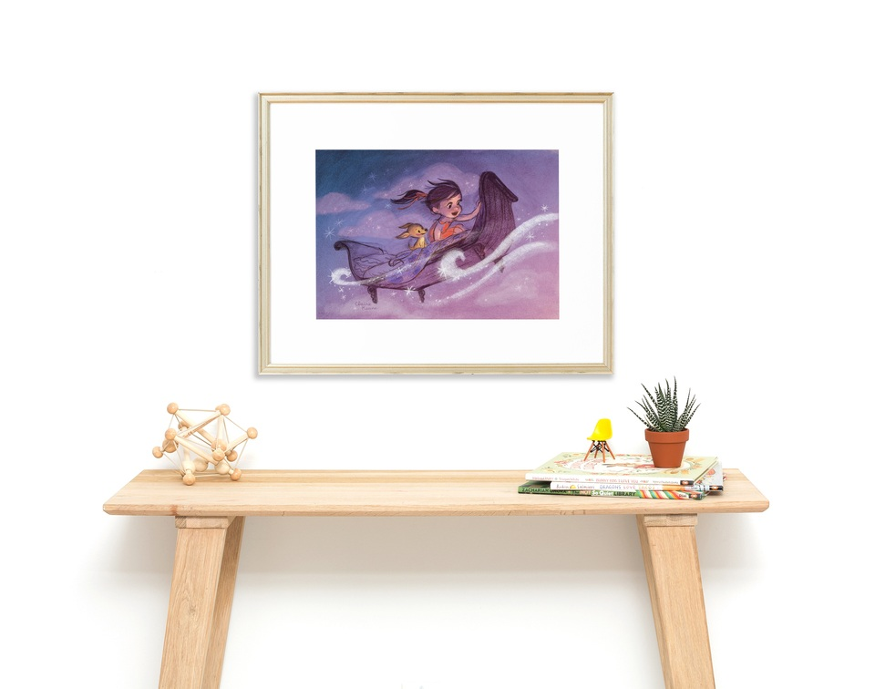 Once Upon A Cloud Limited Edition Framed Print - Partnership with Framebridge