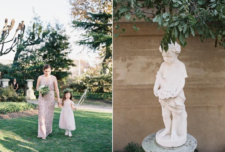 Classic Meridian House DC Wedding | DC Fine Art Film Wedding Photographer  | Outdoor Ceremony