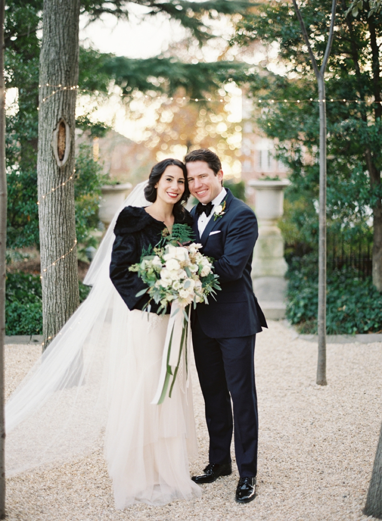 Classic Meridian House DC Wedding | DC Fine Art Film Wedding Photographer  | Meridian House Winter Wedding