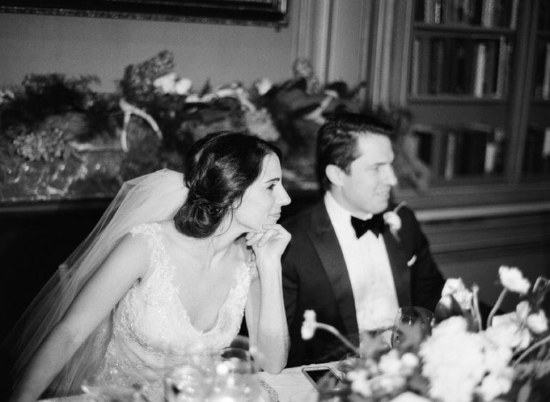 Classic Meridian House DC Wedding | DC Fine Art Film Wedding Photographer  | Meridian House Wedding Toasts