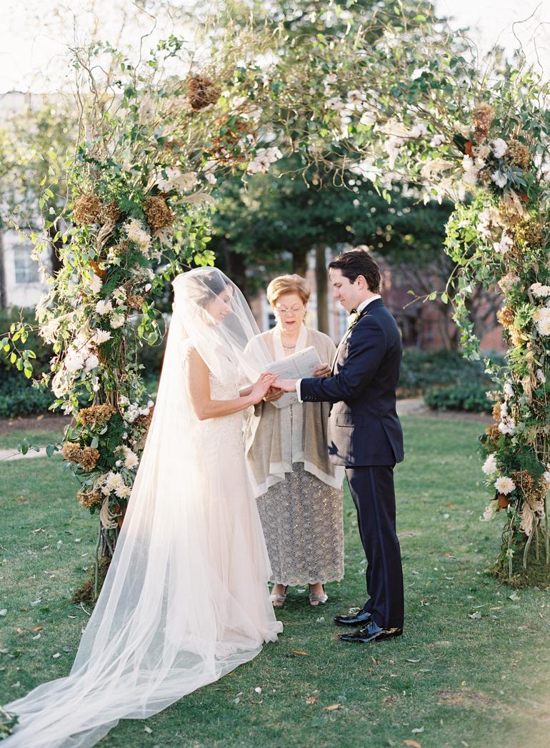 Classic Meridian House DC Wedding | DC Fine Art Film Wedding Photographer  | Meridian House Outdoor Ceremony