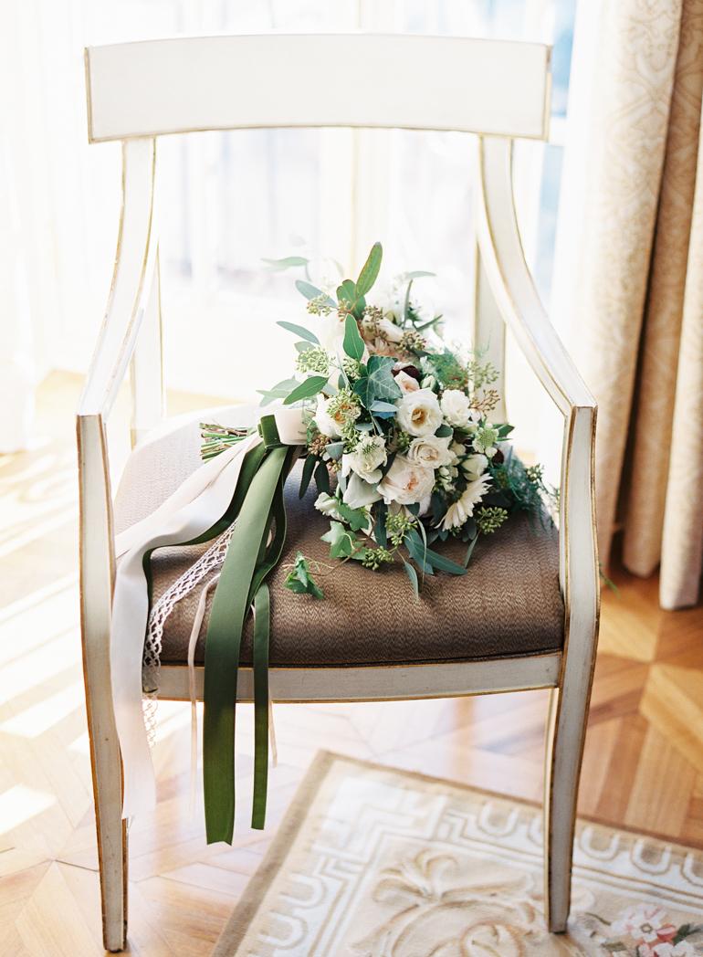Classic Meridian House DC Wedding | DC Fine Art Film Wedding Photographer  | Holly Chapple Bouquet at The Jefferson DC